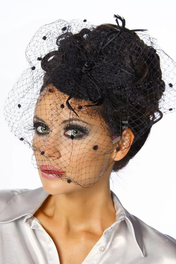 Вечерняя шляпка с вуалью Amynetti, 5