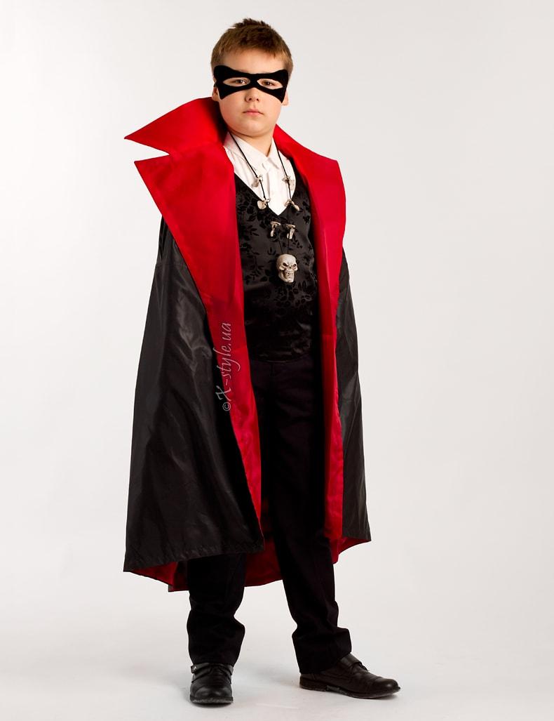 Карнавальный плащ вампира для мальчика X205, 7