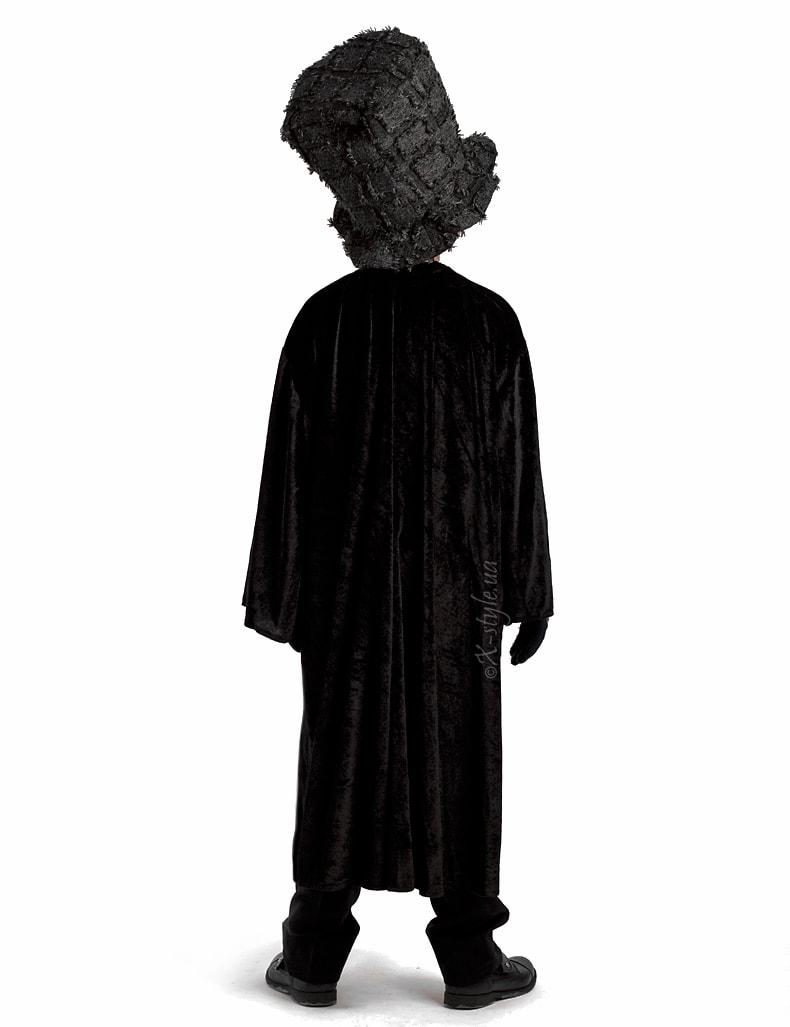 Детский черный балахон с широким рукавом, 5