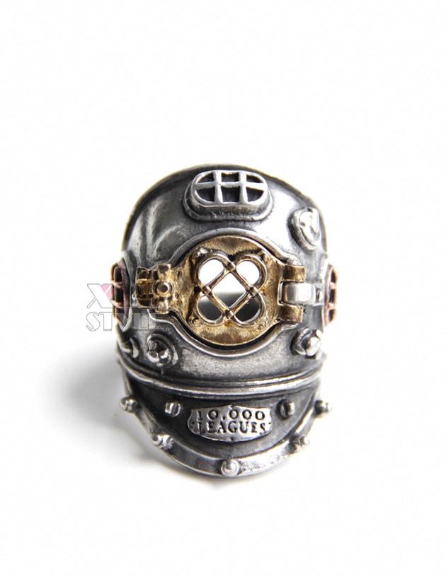 Массивное кольцо в стиле Хай-тек (ручная работа), 5