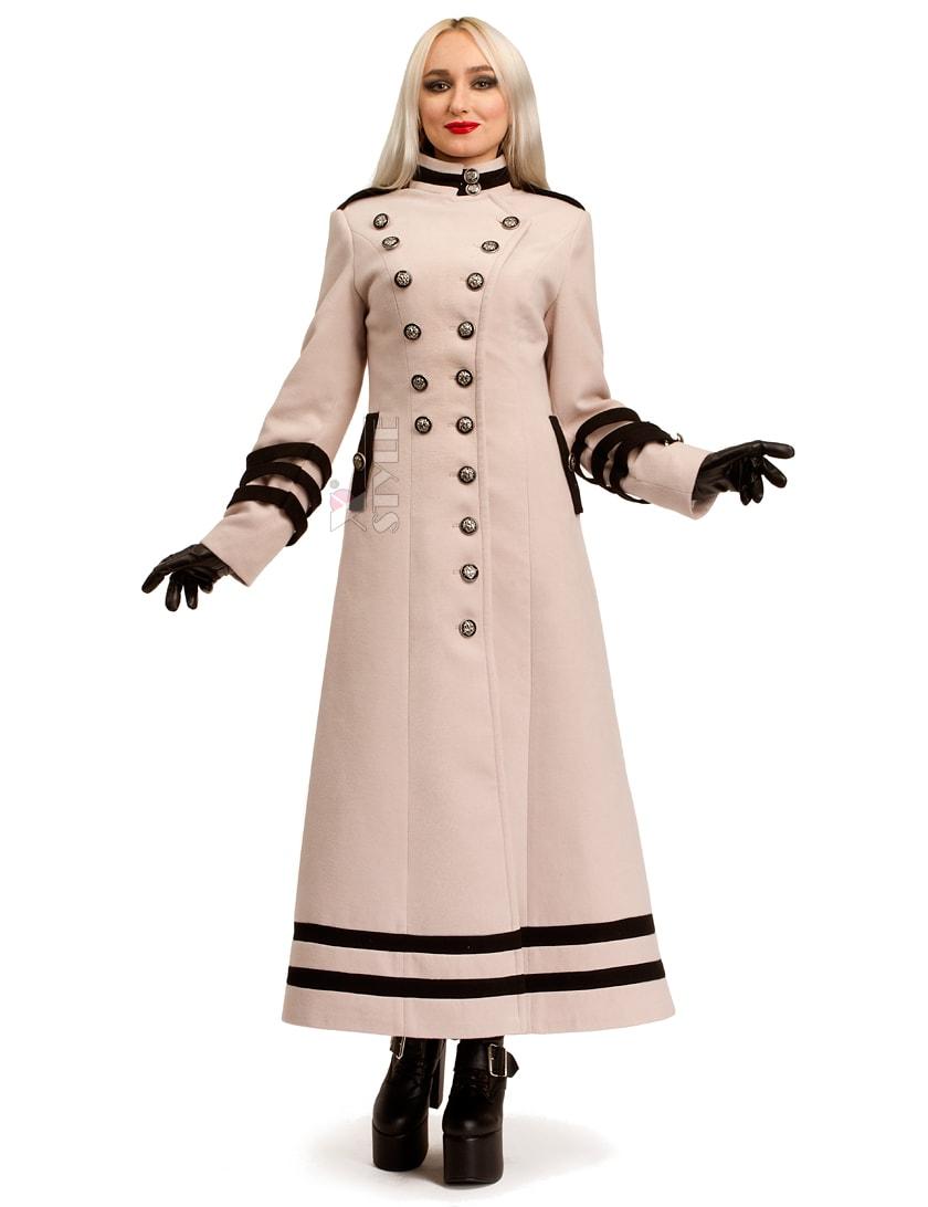Длинное кашемировое пальто X5062, 5