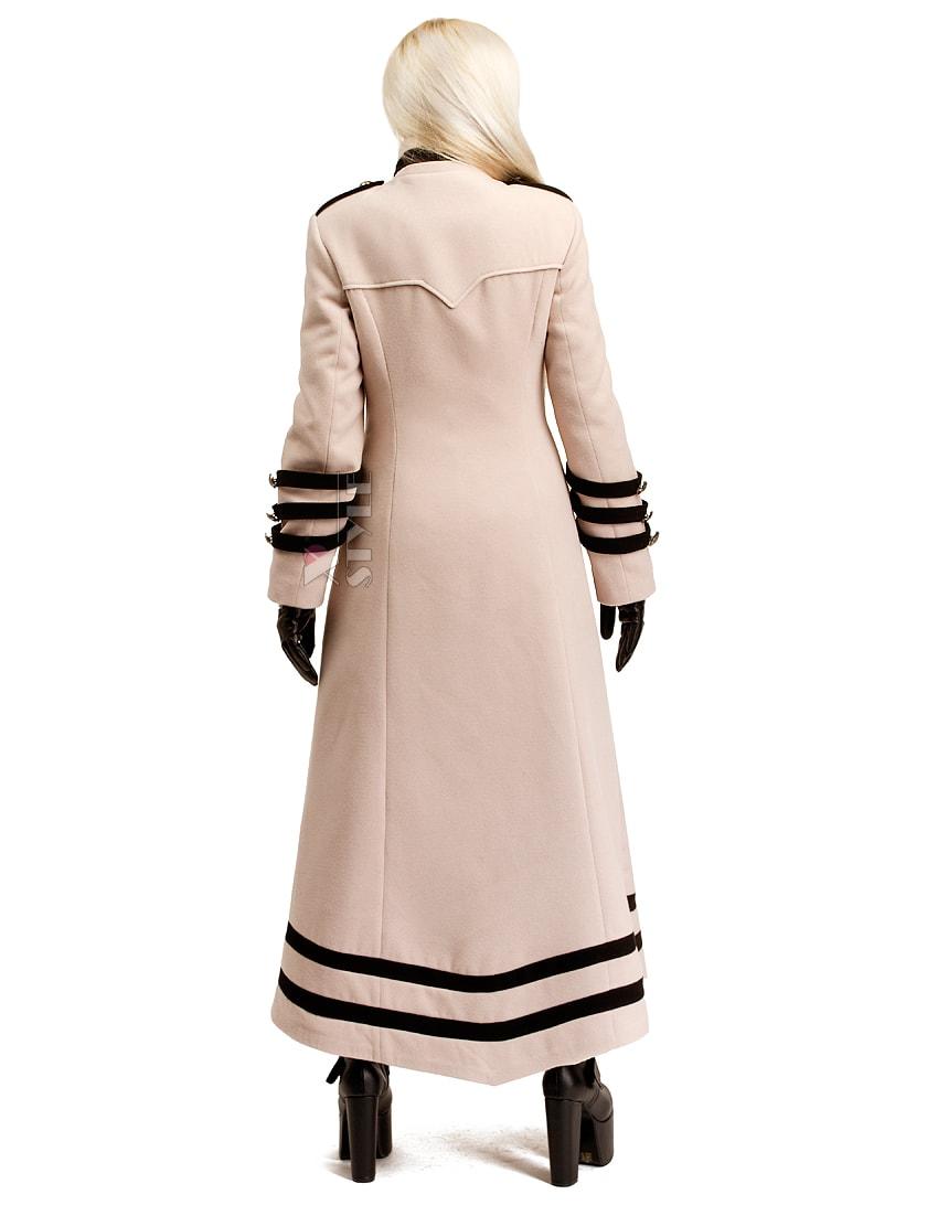 Длинное кашемировое пальто X5062, 9