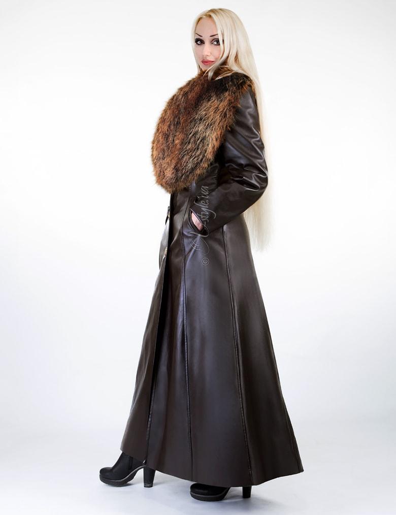 Длинное пальто с меховым воротником X-Style, 7