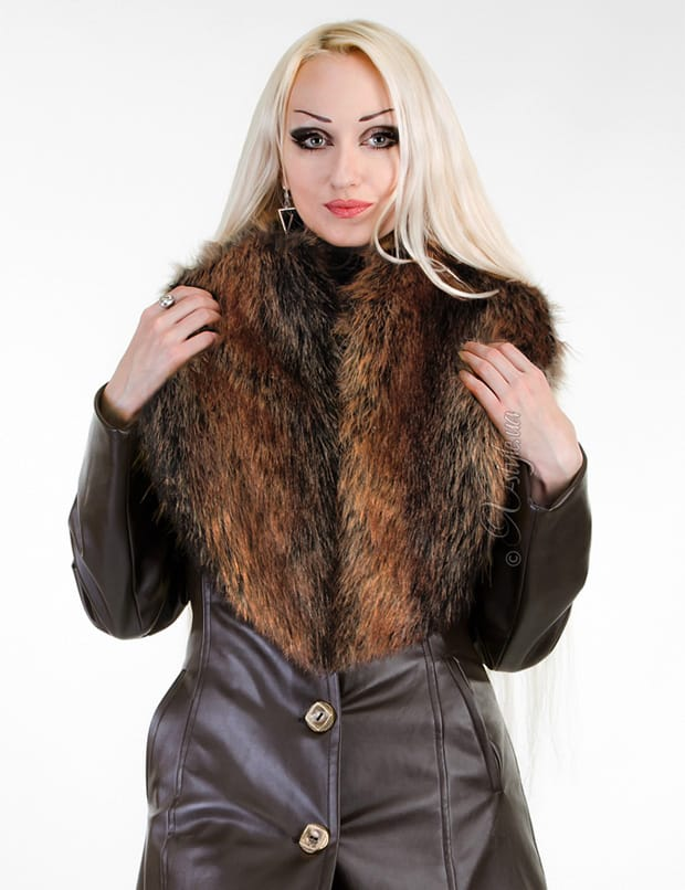 Длинное пальто с меховым воротником X-Style, 5