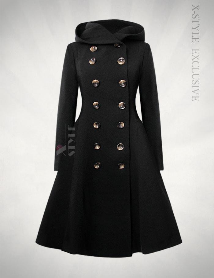 Зимнее пальто с капюшоном X15052, 5