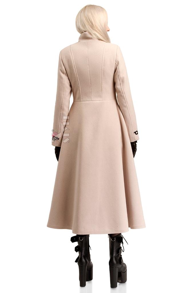 Длинное зимнее пальто женское X5057, 3