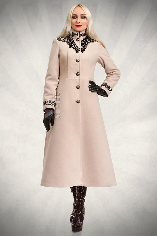 Длинное зимнее пальто женское X5057, 5