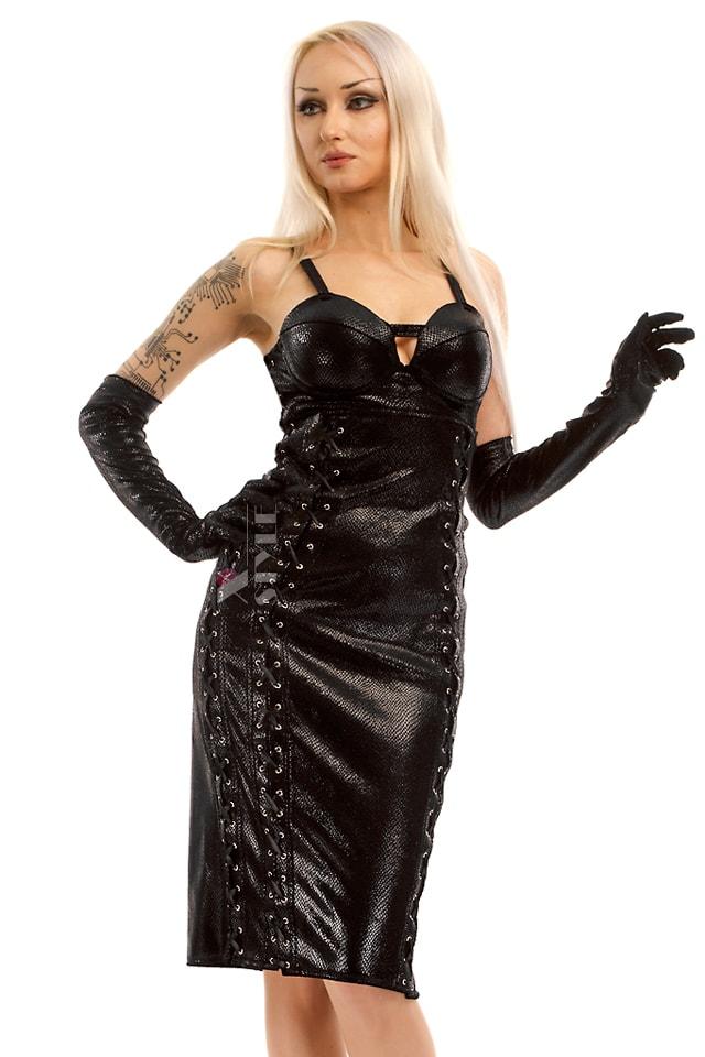 Платье миди под змеиную кожу X-Style, 7