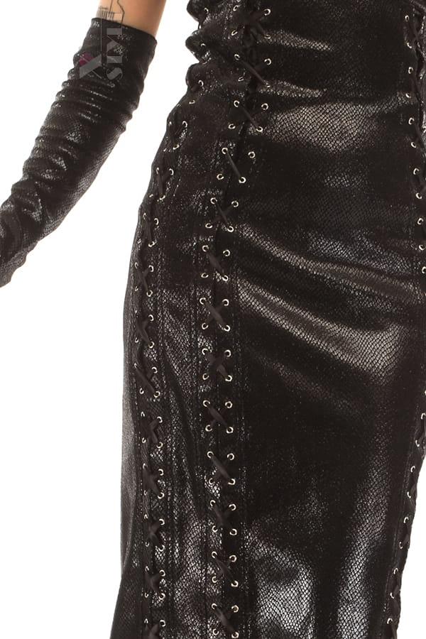 Платье миди под змеиную кожу X-Style, 5