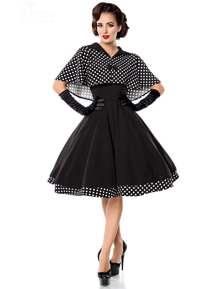 Платье в стиле 50-х с шалью, 11