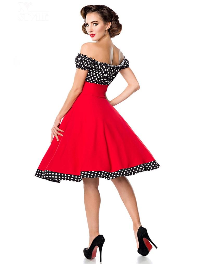 Красное платье с присборенным лифом, 3