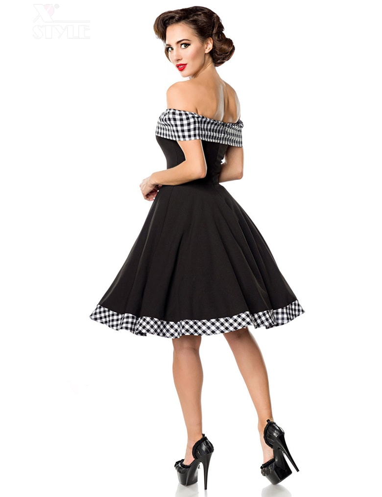 Ретро-платье с открытыми плечами, 3