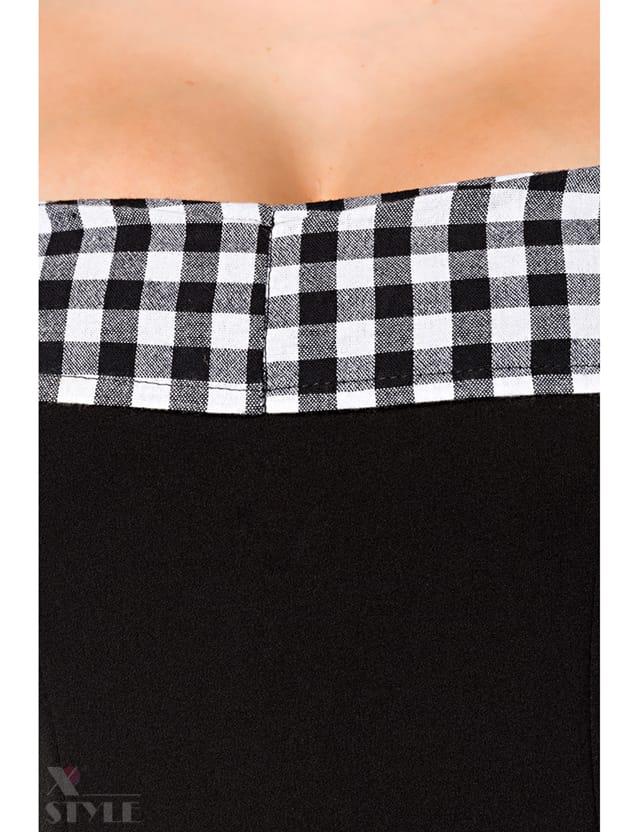 Ретро-платье с открытыми плечами, 7