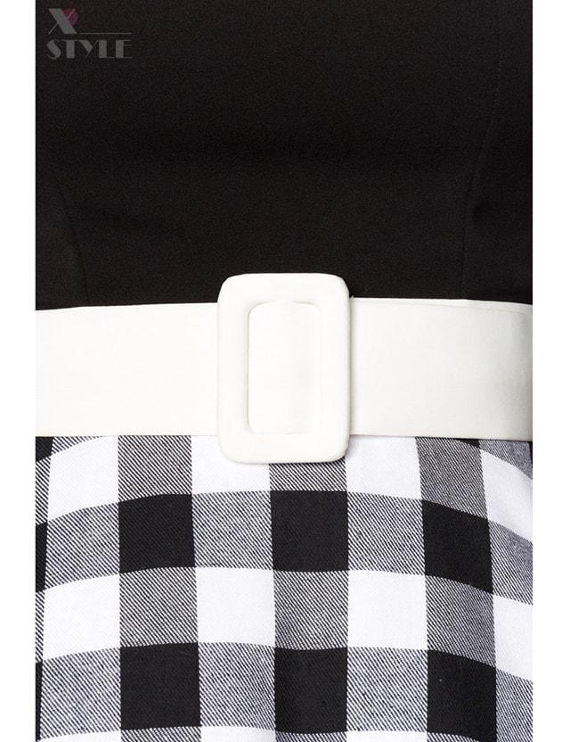 Винтажное платье с клетчатой юбкой, 7