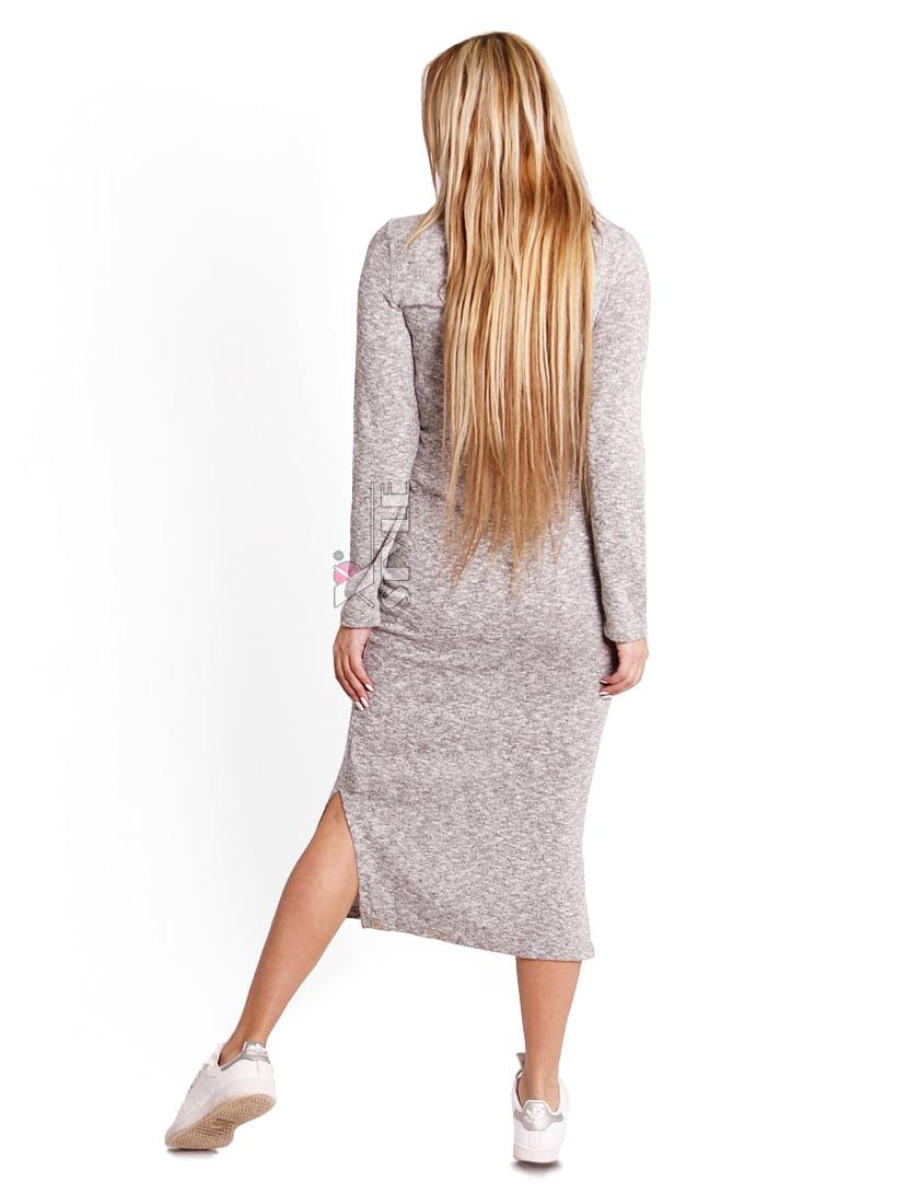 Серое меланжевое платье XC306, 3