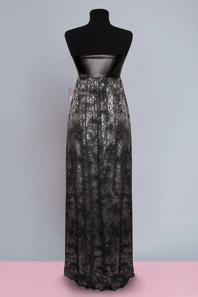 Длинное платье с портупеей и жемчугом, 5