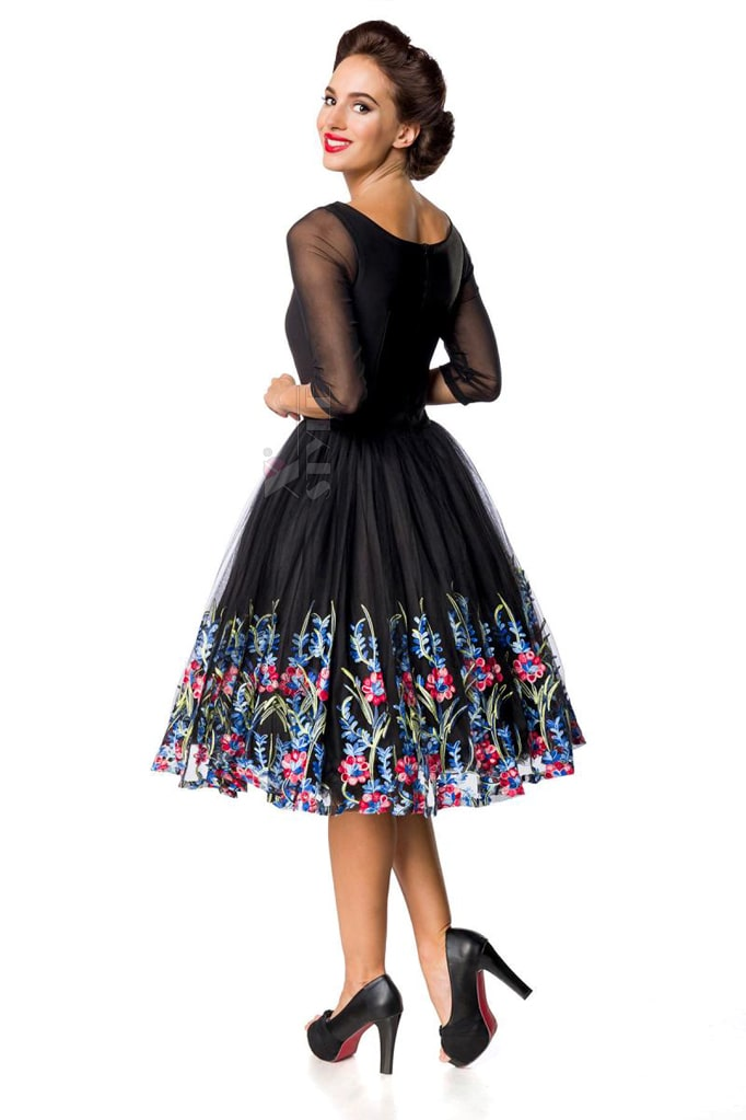 Винтажное платье с вышитой юбкой, 3