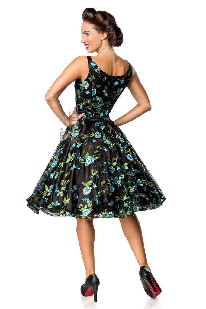 Винтажное платье с цветочным узором и вышивкой, 3