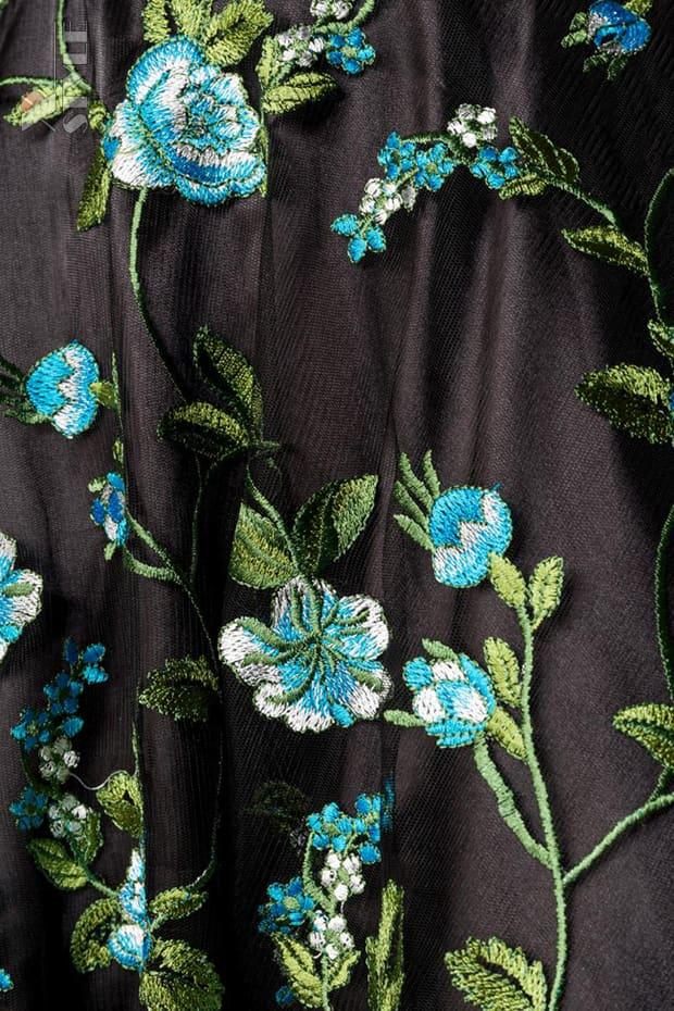 Винтажное платье с цветочным узором и вышивкой, 7