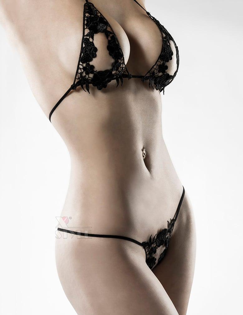 Сексуальное белье с наручниками и маской Grey Velvet, 7
