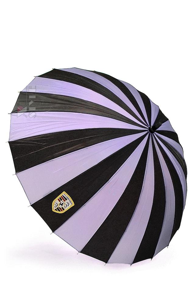 Зонт-трость 24 спицы (сиреневый/черный), 3