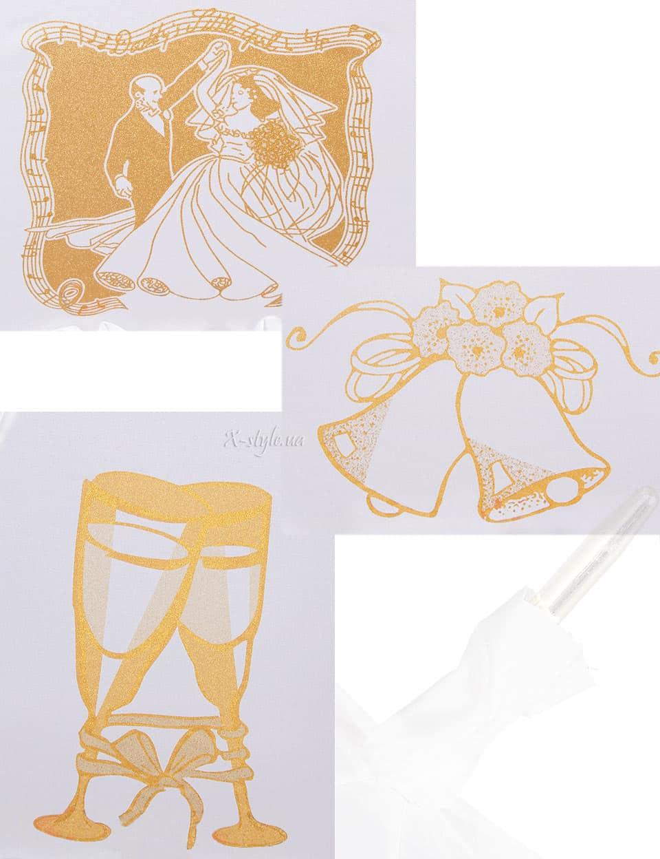 Белый свадебный зонт Sponsa, 13
