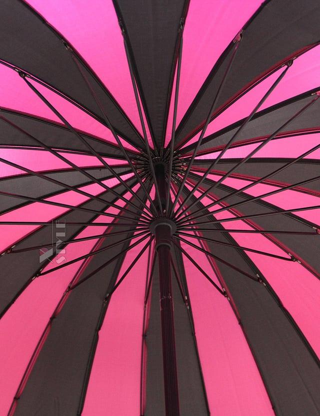 Зонт-трость 24 спицы (фуксия/черный), 7