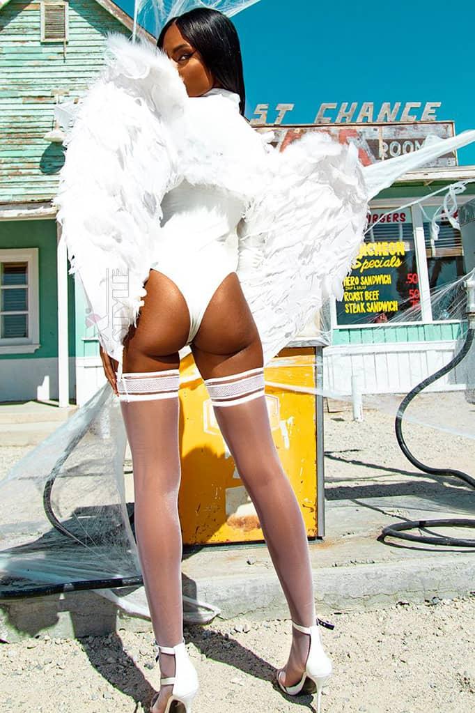Большие крылья ангела белые (80 см) CC039, 5
