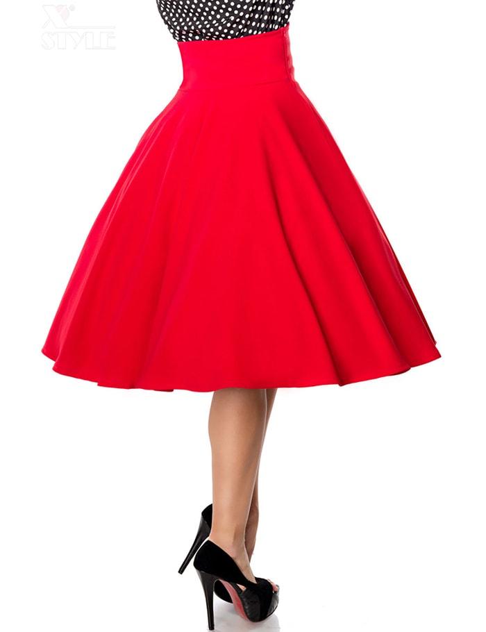 Красная юбка в стиле Ретро, 11