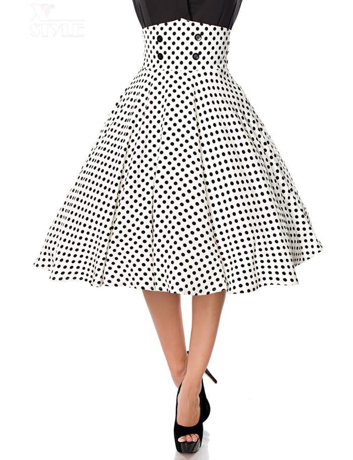 Винтажная юбка с высоким поясом, 5