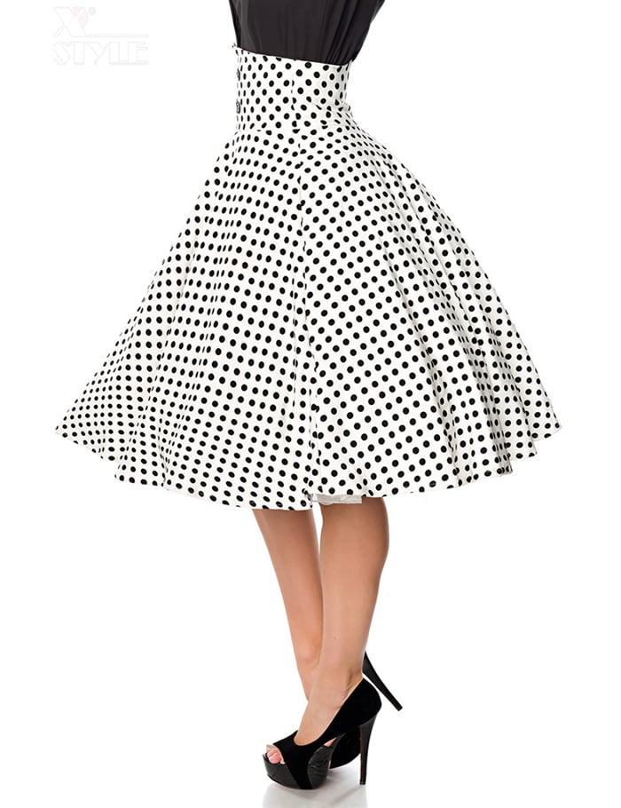 Винтажная юбка с высоким поясом, 9