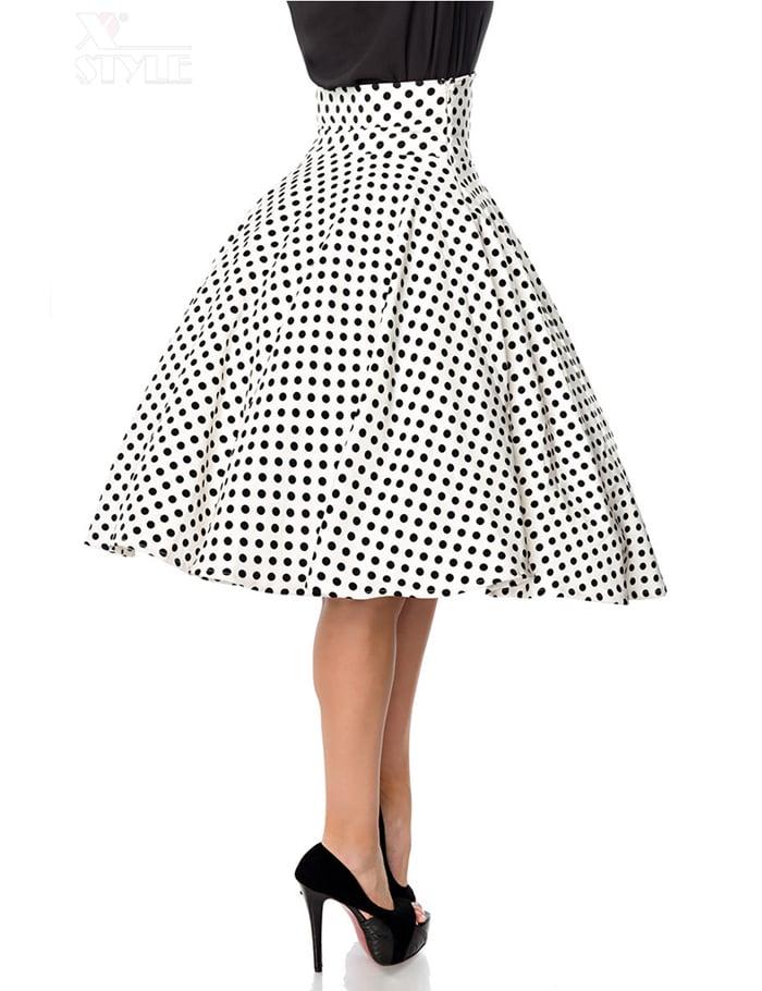 Винтажная юбка с высоким поясом, 3