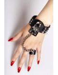 Кожаный браслет с кольцом CC179