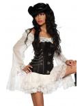 Пиратское платье с кружевом A172