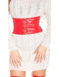 Красный ремень-корсет MF026
