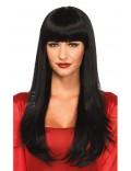 Длинный черный парик Cosplay Couture