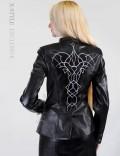 Кожаная куртка с вышивкой Xstyle