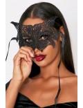 Ажурная черная маска с ушками Artistic