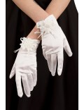 Вечерние белые перчатки XA1151