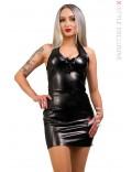 Кожаное платье X5440