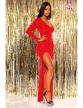 Длинное вечернее платье с блестками KouCla