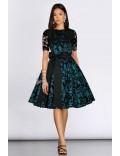 Винтажное платье с ажурной шалью XC5463