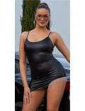 Откровенное платье с металлической бахромой KouCla