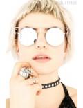 Зеркальные круглые очки Хай-тек