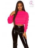 Пуловер женский цвета фуксии KC1245