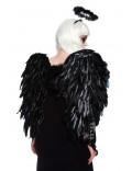 Большие черные крылья из перьев CC041