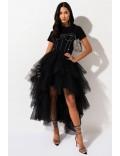 Многослойная пышная юбка-пачка X7201