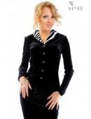 Блузка с мехом в стиле Ретро (101165) - foto