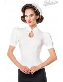 Приталенная блузка в стиле Ретро Belsira (101190) - foto