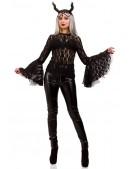 Ажурная черная блузка X1216 (101216) - оригинальная одежда, 2